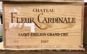 Twelve bottles Château Fleur Cardinale Saint-Émilion grand cru 2007 (OWC)