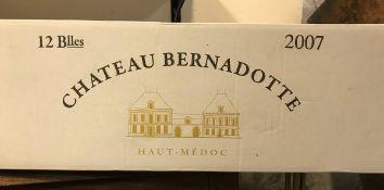 Twelve bottles Château Bernadotte Haut-Medoc 2007 (boxed)