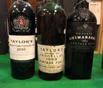 One bottle Taylor's Quinta de Vargellas Vintage Port 1968 (well below neck),