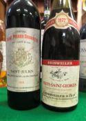 One bottle Château Saint Pierre Sevaistre Saint Julien 1979 and one bottle Geisweiler