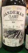 One jeroboam Sandeman Claret Bordeaux 1978,