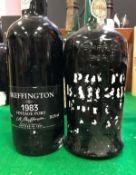 One bottle Barros Vintage Port 1973, one bottle Skeffington Vintage Port 1983,