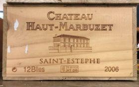Twelve bottles Château Haut-Marbuzet Saint-Estèphe 2006 (OWC) CONDITION REPORTS The
