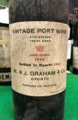 One bottle W & J Graham & Co.