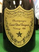 One bottle Dom Pérignon Vintage Champagne 1980