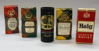 A selection of ten vintage boxed miniature Whiskies to include 1960s Haig Scotch Whisky 70 proof