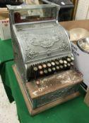 A chrome painted National cash register