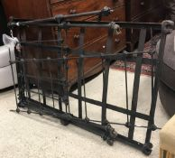 A Victorian wrought iron child's cot