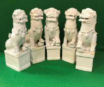 Five 19th Century Chinese blanc-de-chine