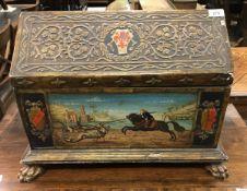 A 19th Century Arts & Crafts casket of G