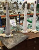 A pair of plaster of Paris table lamps (