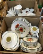 """Two boxes of J & G Meakin """"Poppy"""" dinner"""