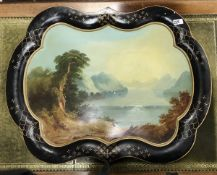 A 19th Century painted Toleware tea tray