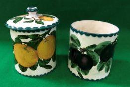 An early 20th Century Wemyss marmalade j
