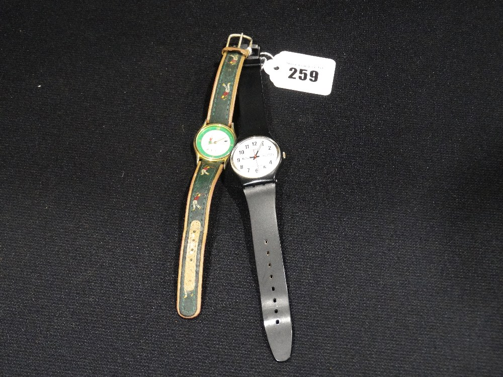 Lot 259 - A Gents Swatch Fashion Watch, Together With A Similar Wrist Watch