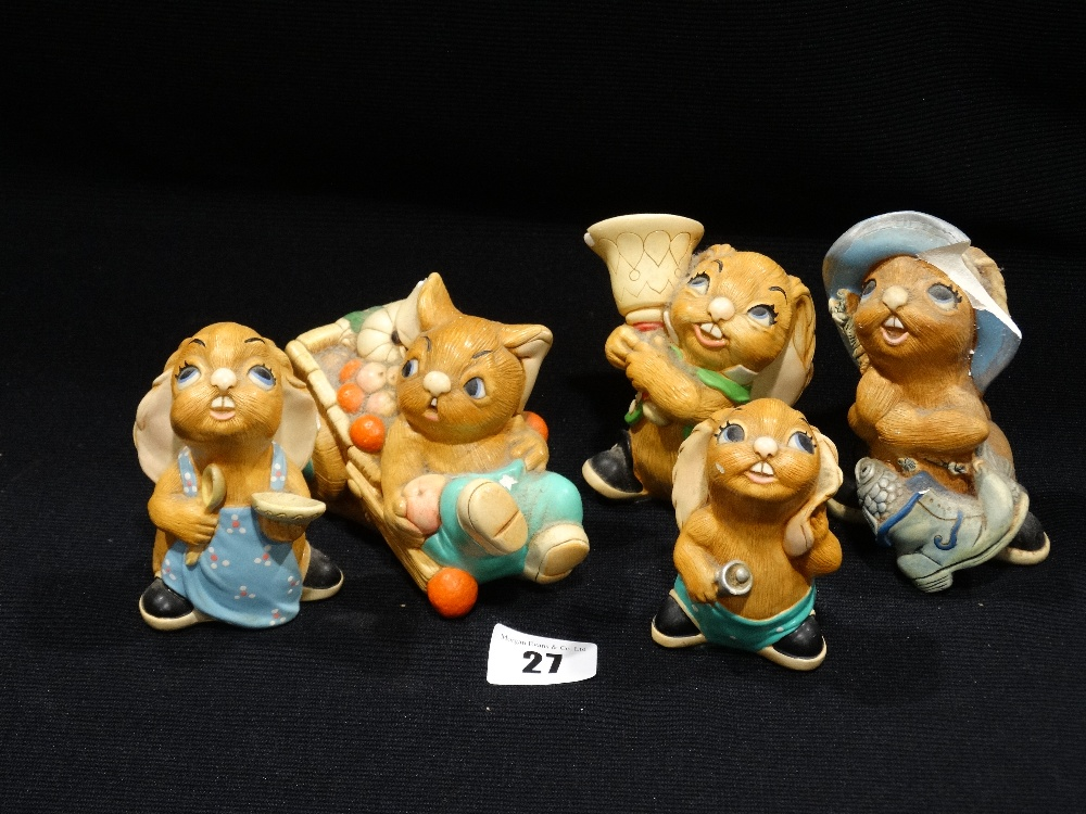 Lot 27 - An Interesting & Unique Collection Of Pendelfin Figures & Ephemera To Include Signed Books By