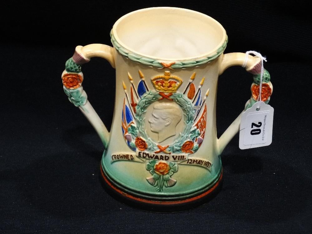 "Lot 20 - A Rare 1937 Royal Commemorative Loving Cup, 6"" High"