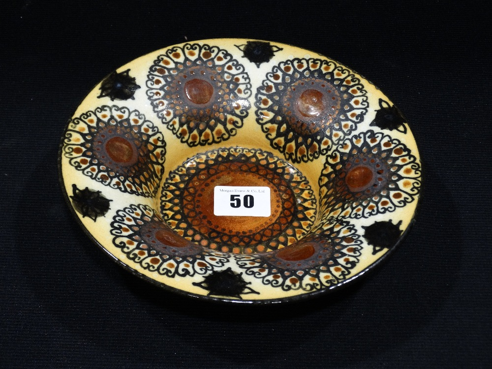 "Lot 50 - Hilkka Liisa Ahola For Arabia Finland A Circular Geometric Pattern Bowl, 7.5"" Dia"