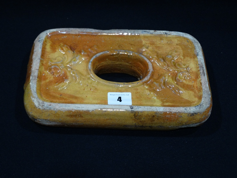 Lot 4 - A 19th Century Glazed Pottery Weight