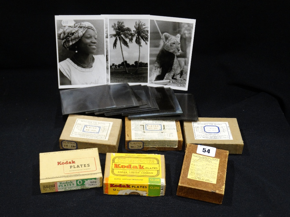 Lot 54 - Approx 200, Clear Glass Negatives Relating To Colonial Africa