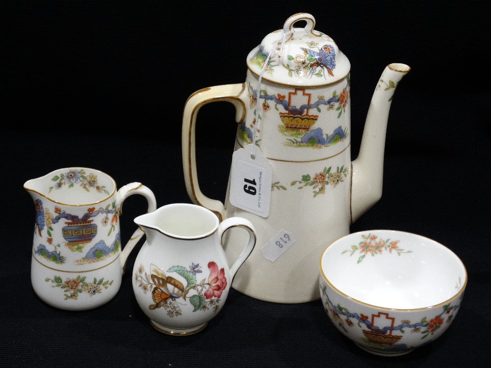 Lot 19 - A Royal Worcester Four Piece Coffee Service With Oriental Decoration