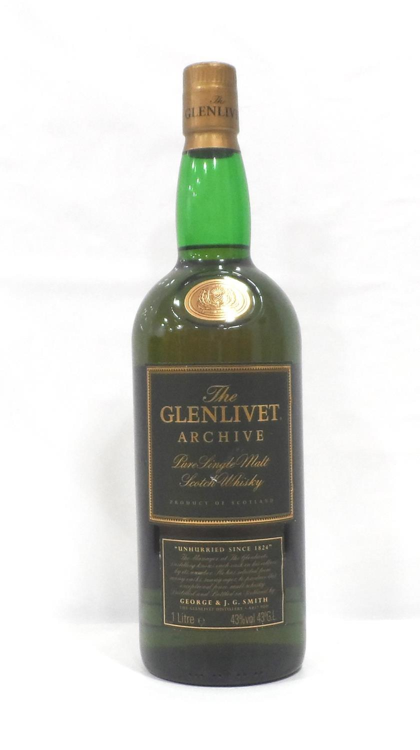 """Lot 40 - GLENLIVET ARCHIVE 15YO Another whisky with """"The"""" definitive article...The Glenlivet Archive 15"""
