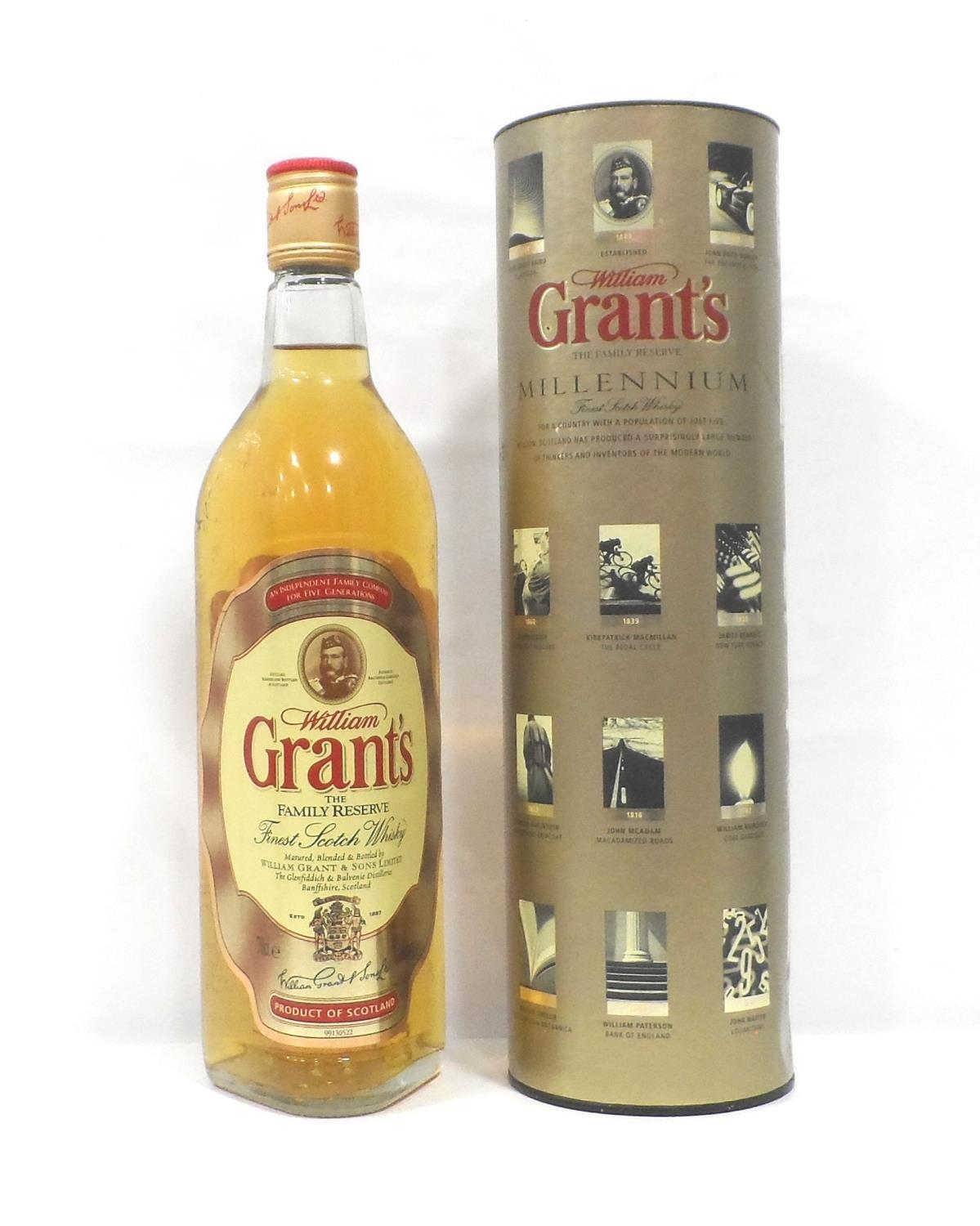 Lot 33 - GRANT'S MILLENNIUM A bottle of William Grant's The Family Reserve Millennium Blended Scotch