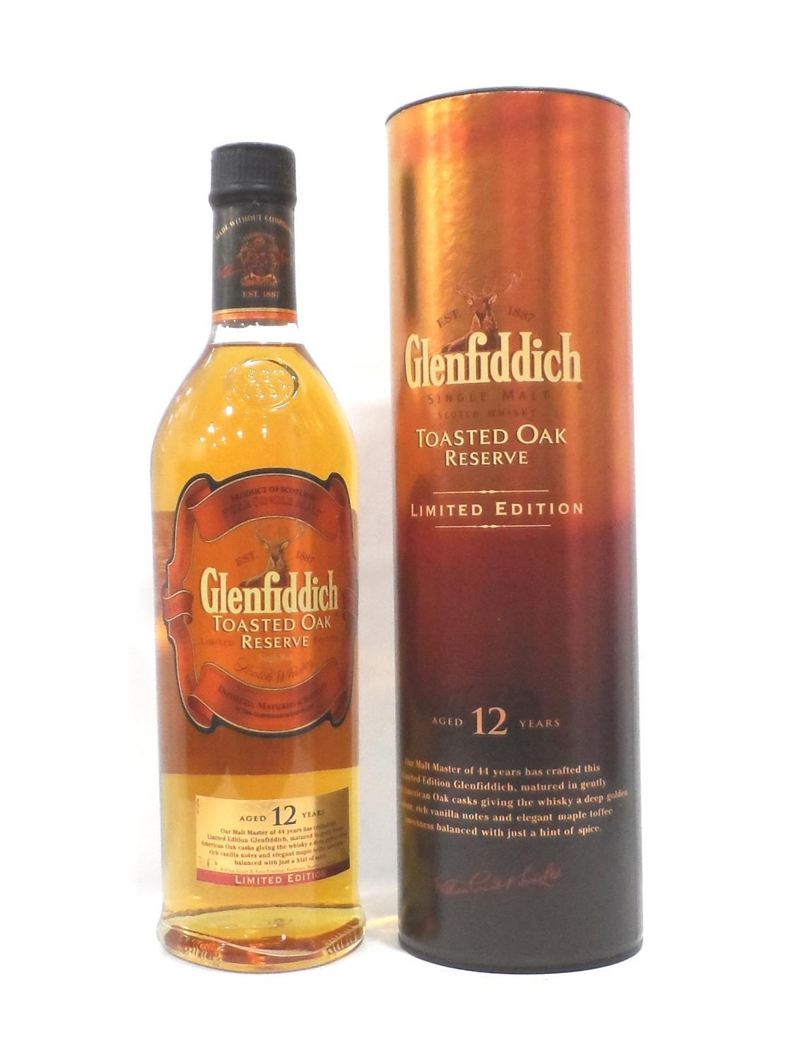 Lot 56 - GLENFIDDICH TOASTED OAK RESERVE A Limited Edition bottling of Glenfiddich Toasted Oak Reserve 12