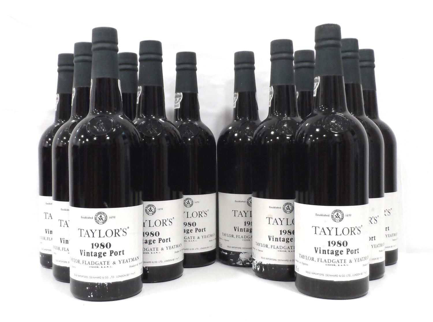 Lot 45 - TAYLOR'S 1980 VINTAGE PORT A case of Taylor's 1980 Vintage Port produced in a year that seems to