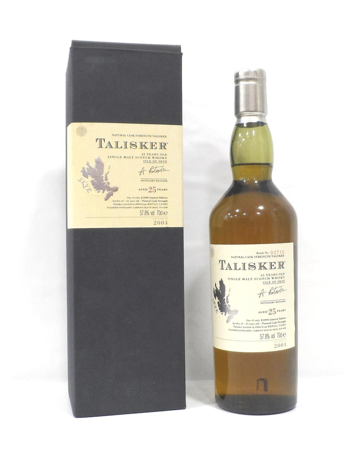 Lot 1 - TALISKER 25YO This bottle is a prime example of why Talisker is one of my favourite drams.