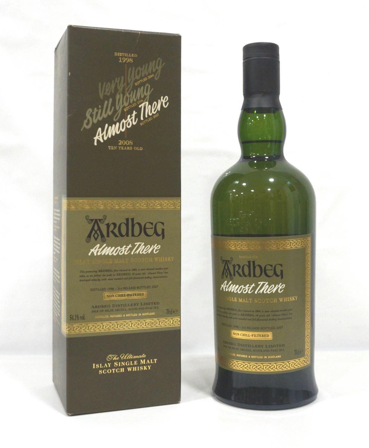 Lot 20 - ARDBEG ALMOST THERE The third release in the series of Ardbeg released on the run up to the new 10