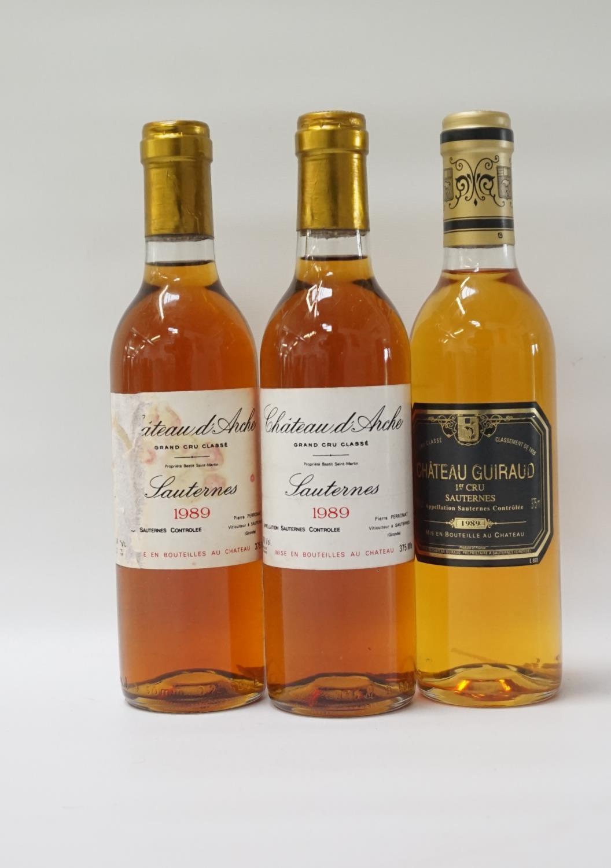 Lot 46 - THREE BOTTLES OF VINTAGE SAUTERNES A selection of three bottles of Sauternes, comprising: two