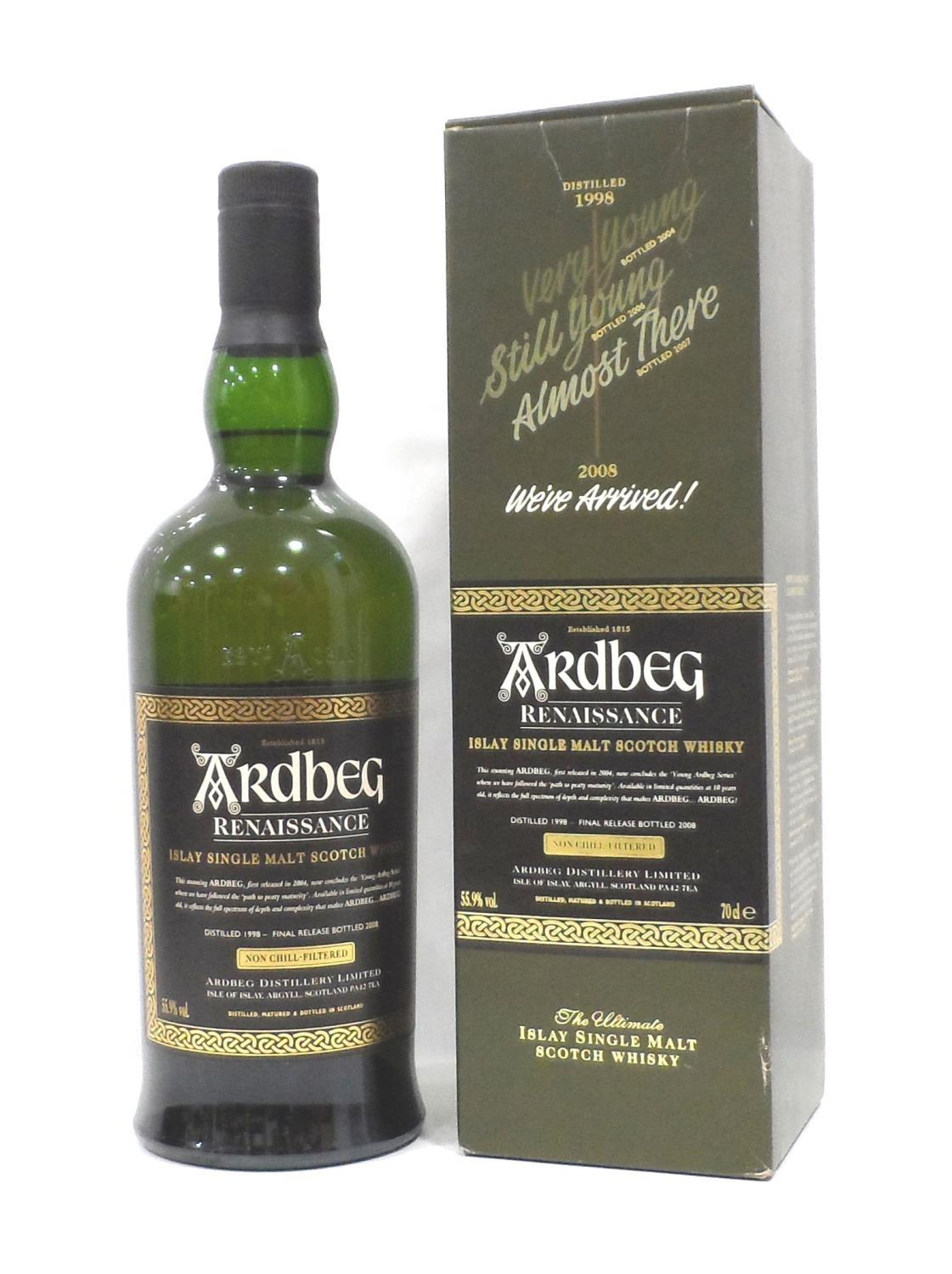 Lot 21 - ARDBEG RENAISSANCE The final instalment in the series celebrating the reappearance of the Ten Year