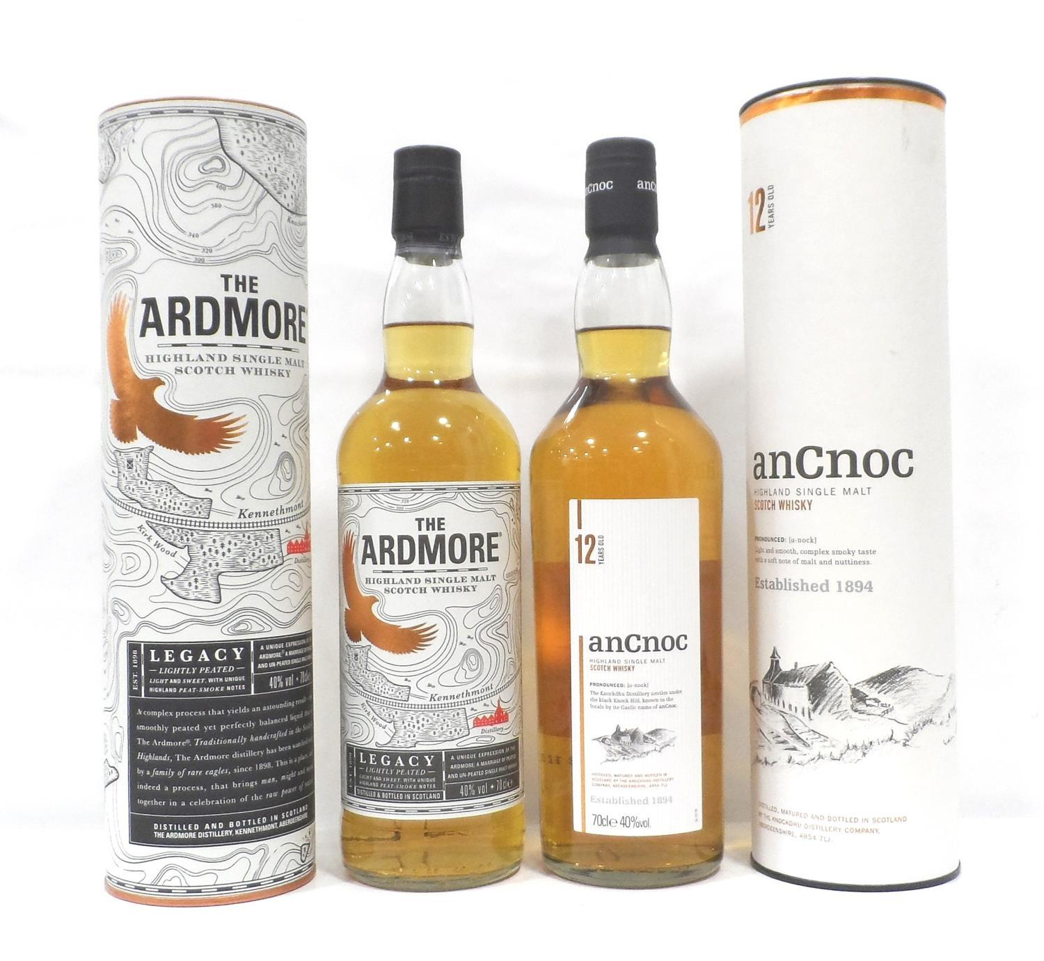 Lot 7 - TWO BOTTLES OF HIGHLAND MALT A pair of bottles of Highland Whisky, comprising: one bottle AN CNOC 12