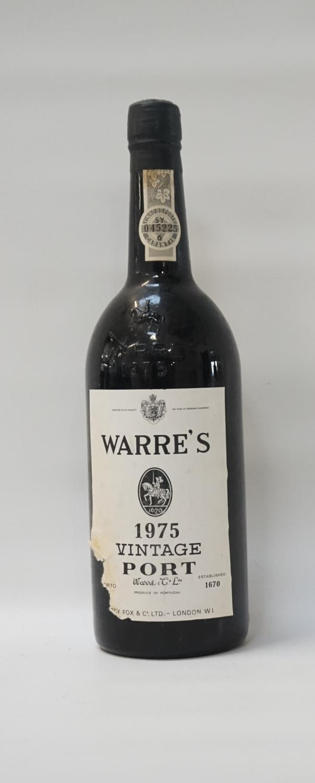 Lot 59 - WARRE'S 1975 VINTAGE PORT A bottle of the famous Warre's 1975 Vintage Port. 75cl. No strength
