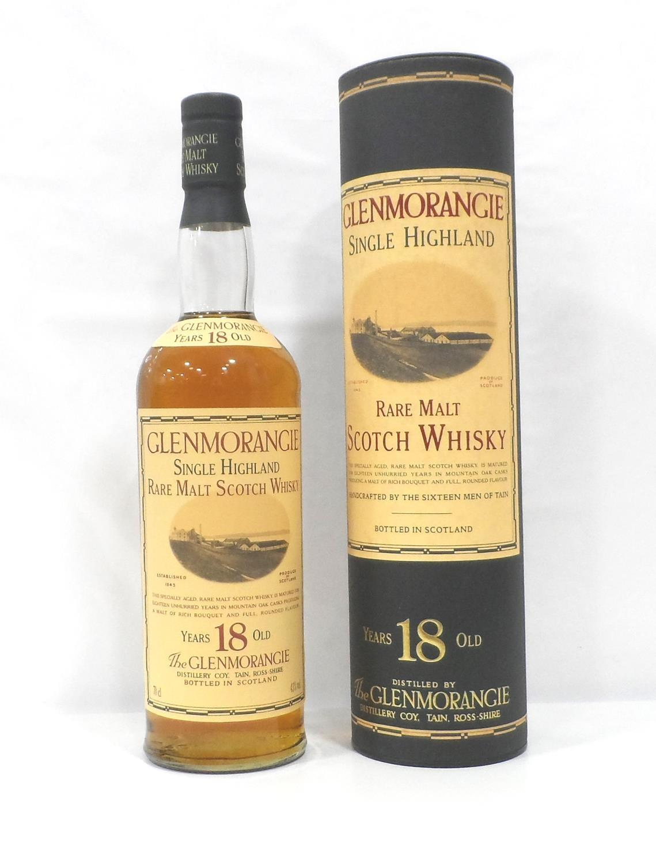 Lot 35 - GLENMORANGIE 18YO Under the stewardship of Dr Bill Lumsden Glenmorangie has continued to produce