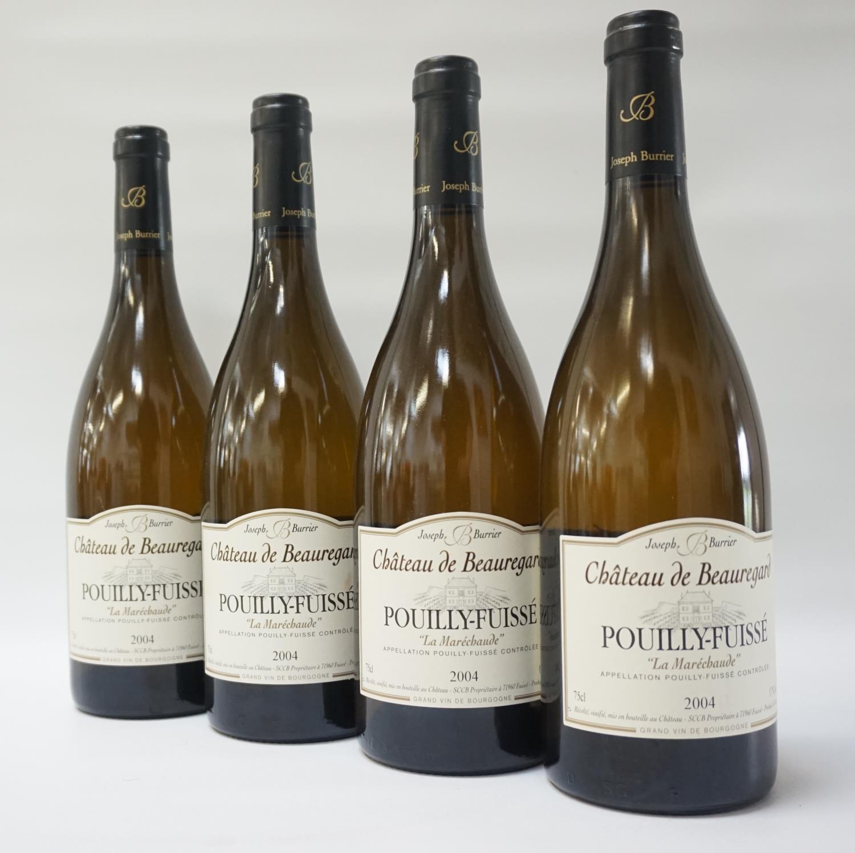 """Lot 48 - CHATEAU DE BEAUREGARD POUILLY-FUISSE """"LA MARECHAUDE"""" 2004 VINTAGE Six bottles of classic French"""