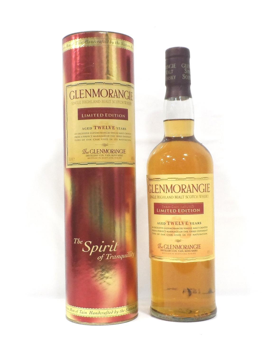 Lot 34 - GLENMORANGIE 12YO THREE CASK MATURED A Limited Edition bottling of the Glenmorangie 12 Year Old