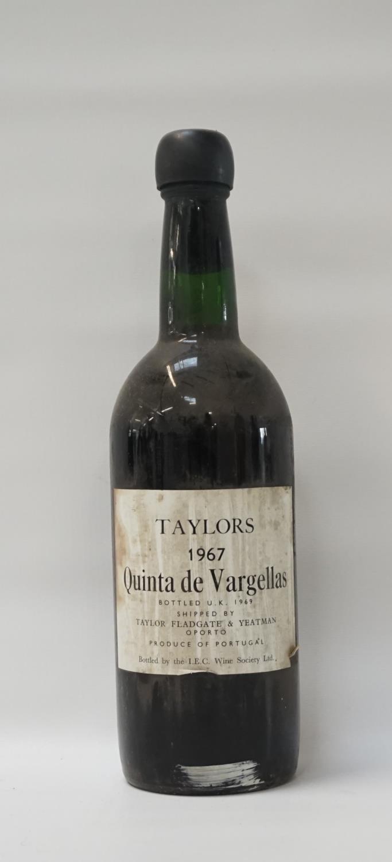 Lot 60 - TAYLORS QUINTA DE VARGELLAS 1967 VINTAGE PORT A rare and excellent bottle of the Taylors Quinta de
