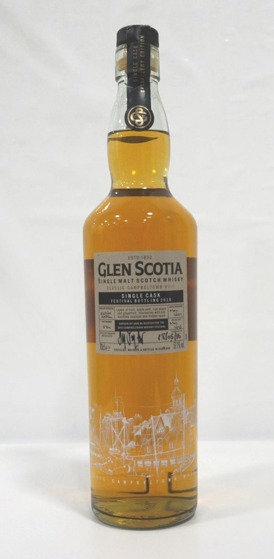 Lot 9 - GLEN SCOTIA FESTIVAL BOTTLING 2016 A fine single cask bottling from the resurgent Glen Scotia