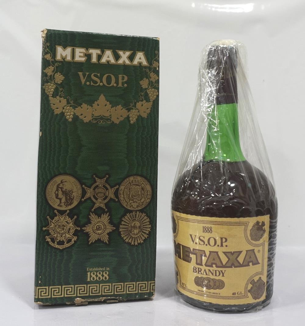 Lot 37 - METAXA V.S.O.P. BRANDY A special bottling of the famous Grecian Brandy Metaxa. 70cl. 40% abv.