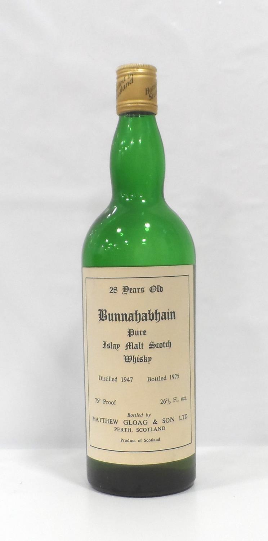 Lot 52 - BUNNAHABHAIN 28YO - 1947 A rare bottle of the Bunnahabhain 28 Year Old Single Malt Scotch Whisky