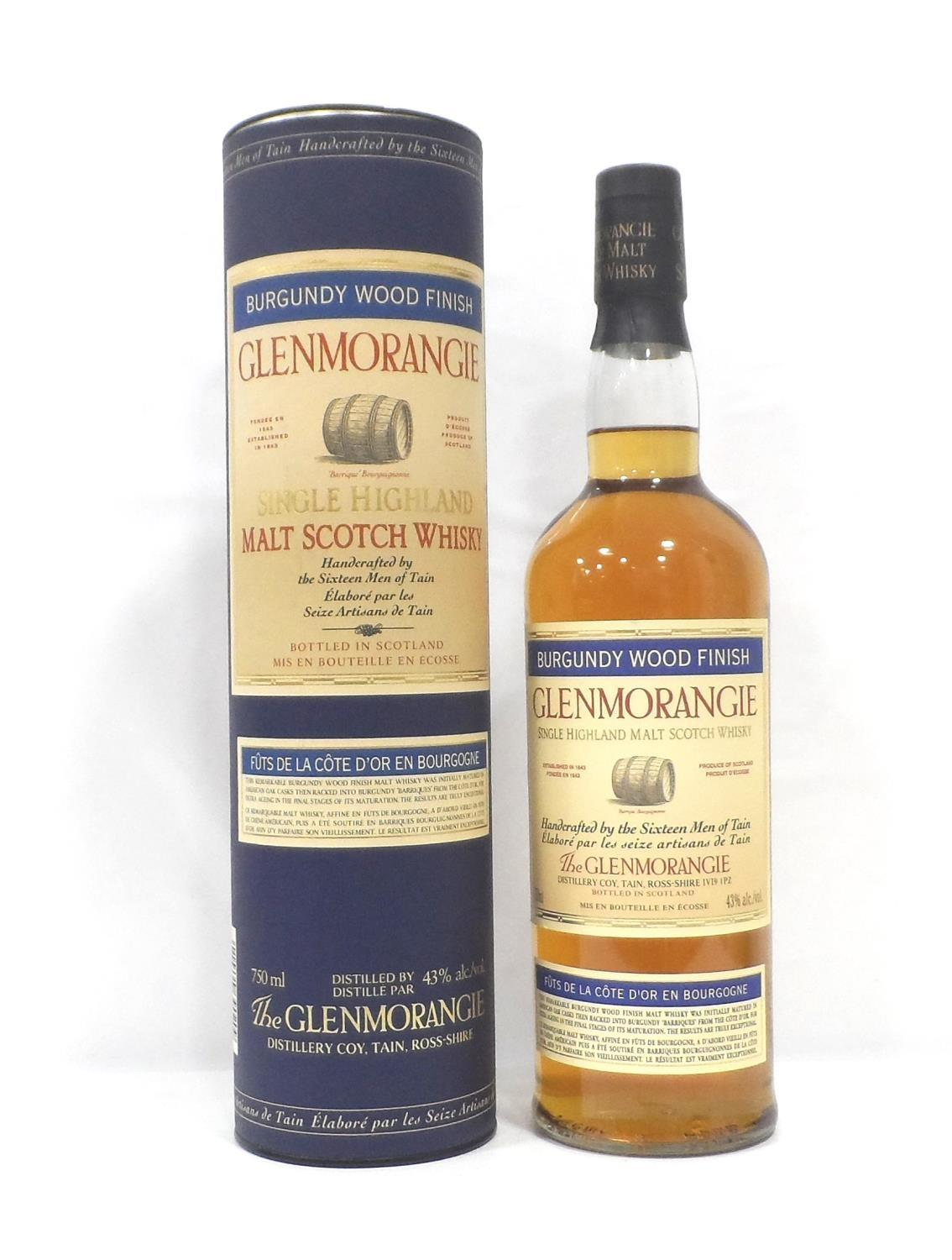 Lot 2 - GLENMORANGIE BURGUNDY WOOD FINISH The Glenmorangie Distillery were one of the pioneers of ""