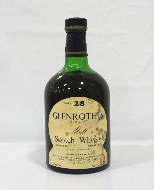 Lot 12 - GLENROTHES-GLENLIVET 28YO An extremely rare bottle of Glenrothes-Glenlivet Single Malt Scotch Whisky