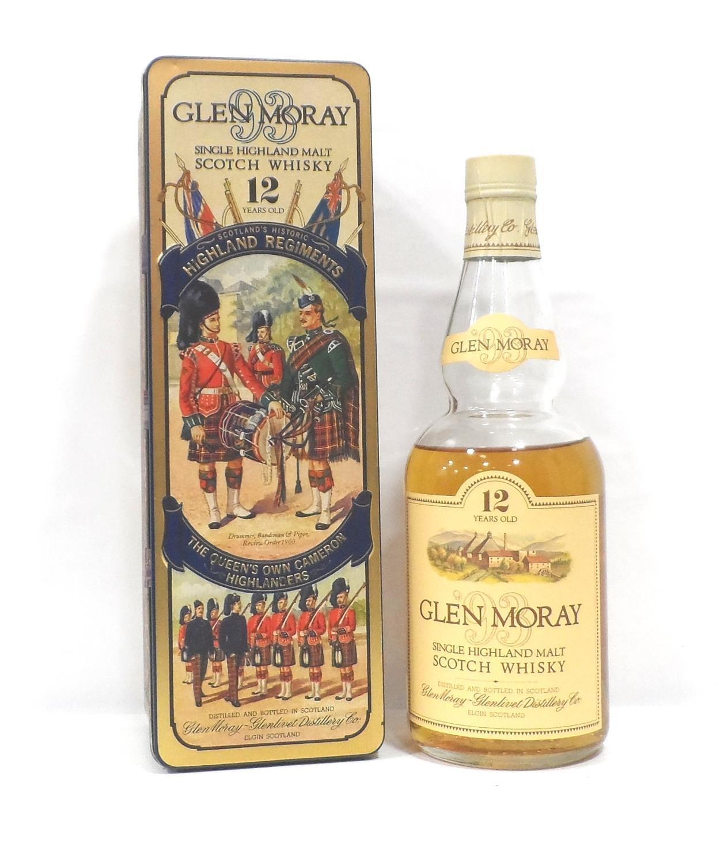 Lot 57 - GLEN MORAY 12YO HIGHLAND REGIMENTS Part of a series of bottlings celebrating the the famous Scottish