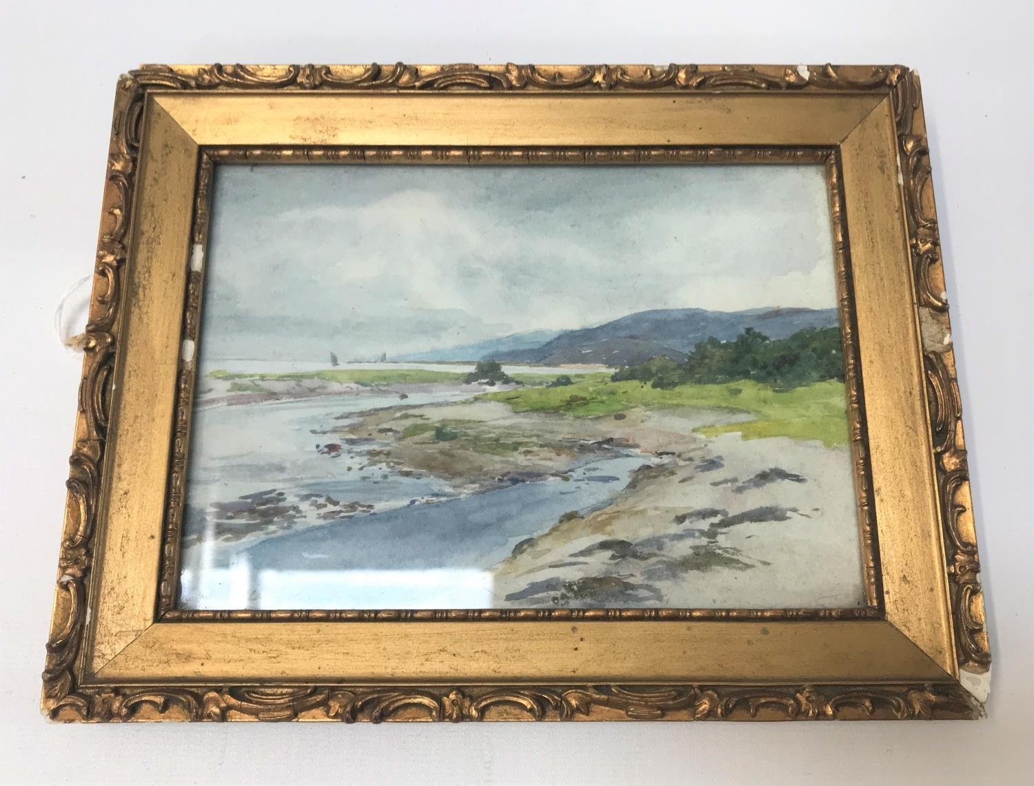 Lot 376 - J N McLAURIN (Scottish, exh.1880-1906) Scottish coastal scene with boats in distance, watercolour,