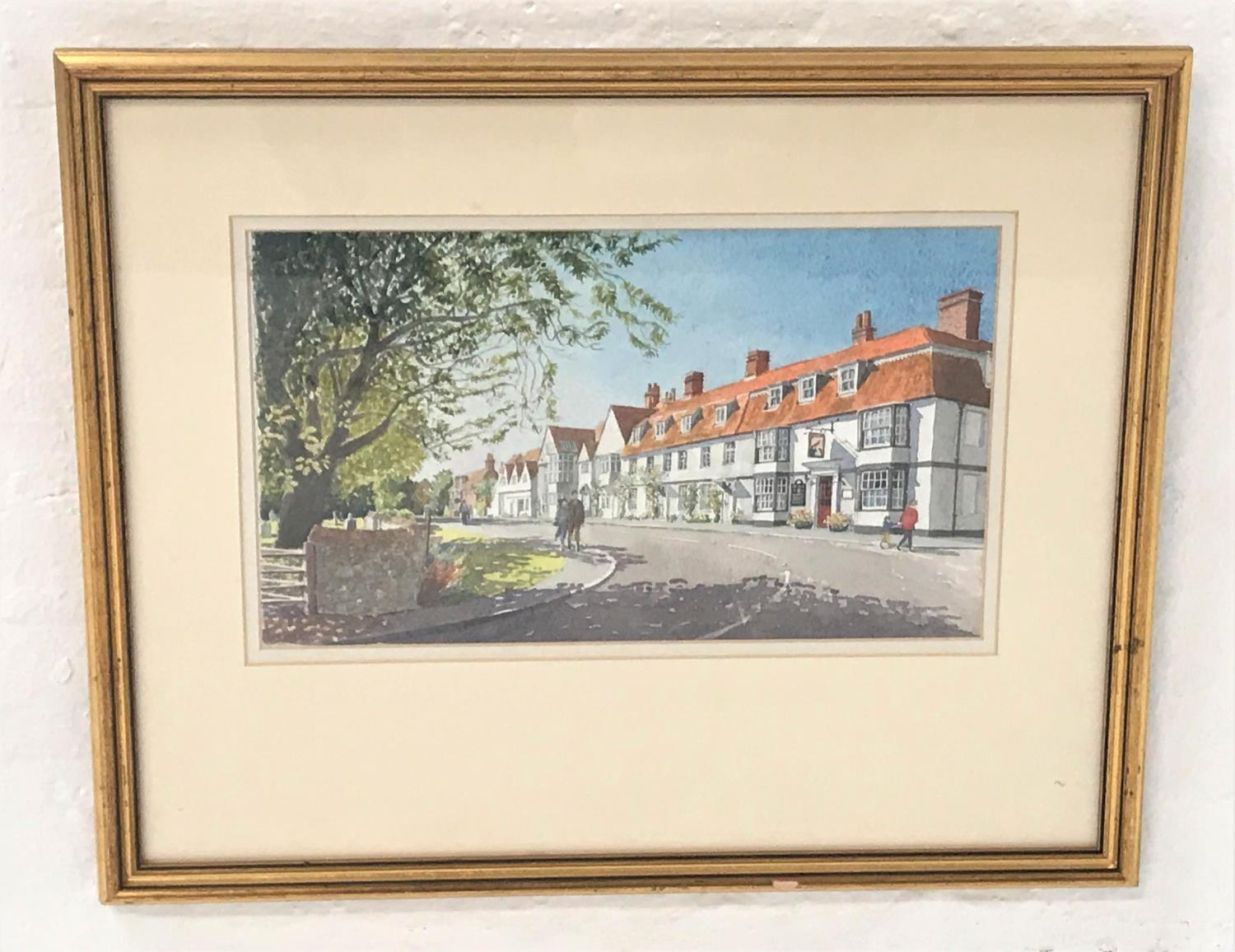 Lot 390 - TONY GOUGH Winchelsea - East Sussex, watercolour, signed and dated 1994, with label to verso, 21.5cm