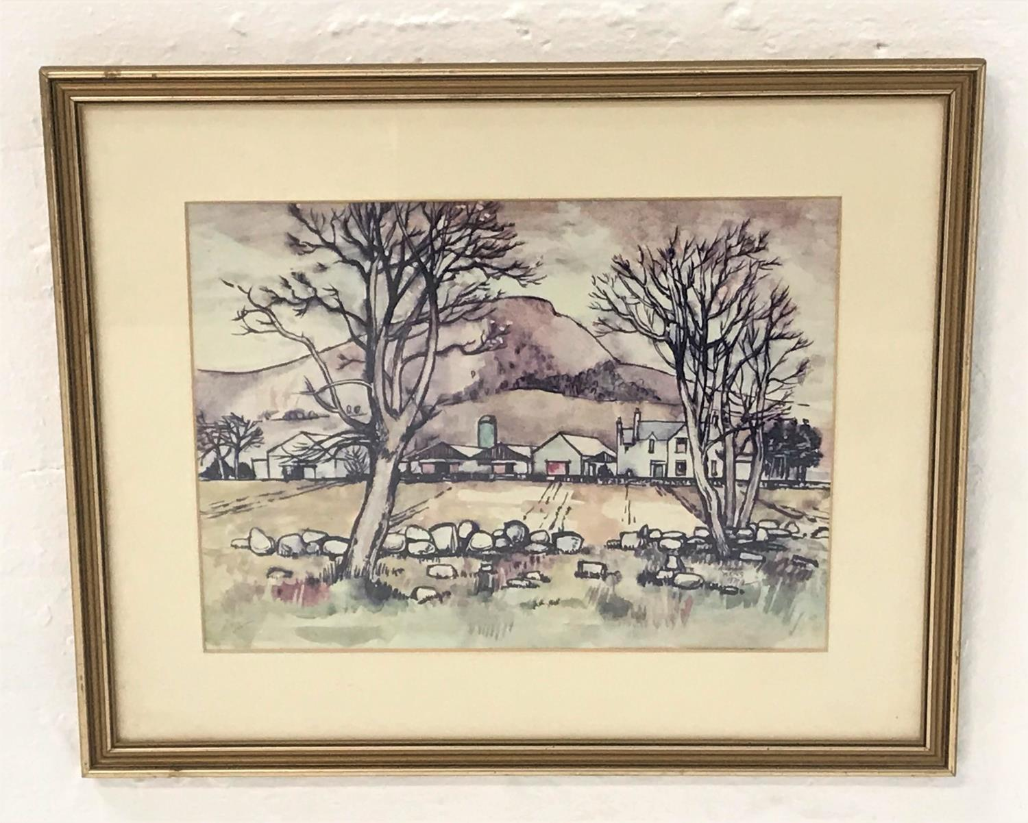 Lot 385 - NORMAN YOUNG The Croft, watercolour, signed and dated 1975, 28cm x 38cm