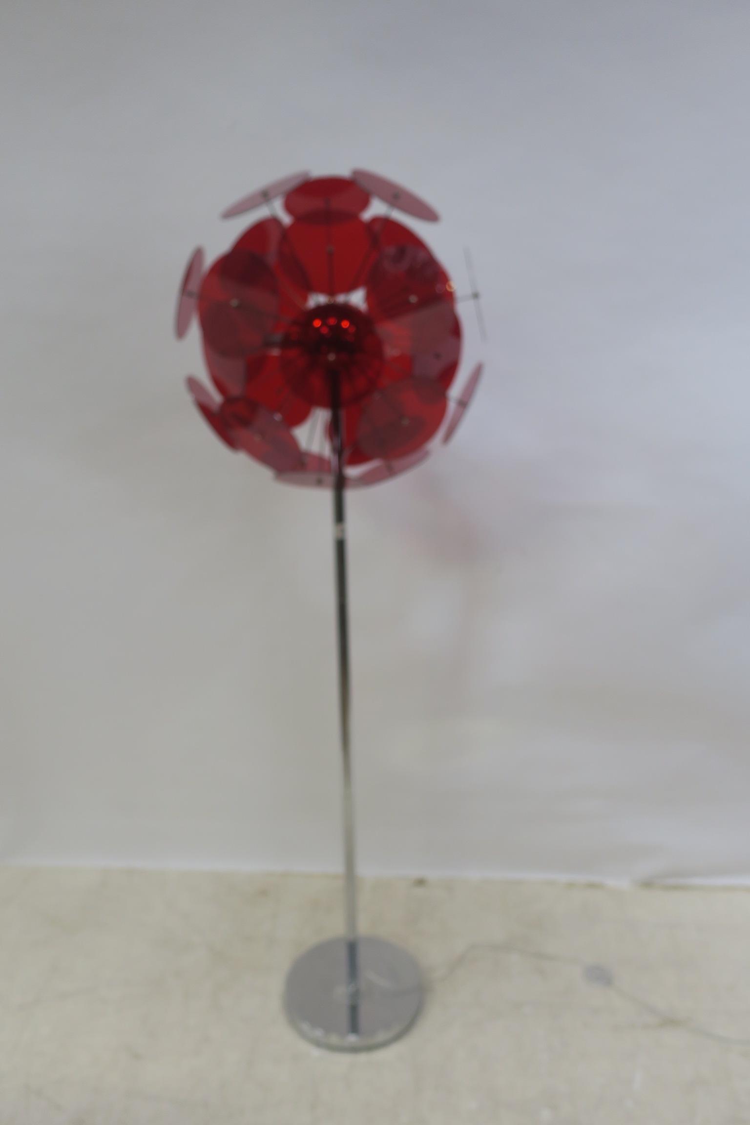 Lot 618 - A RETRO CHROME STANDARD LAMP,