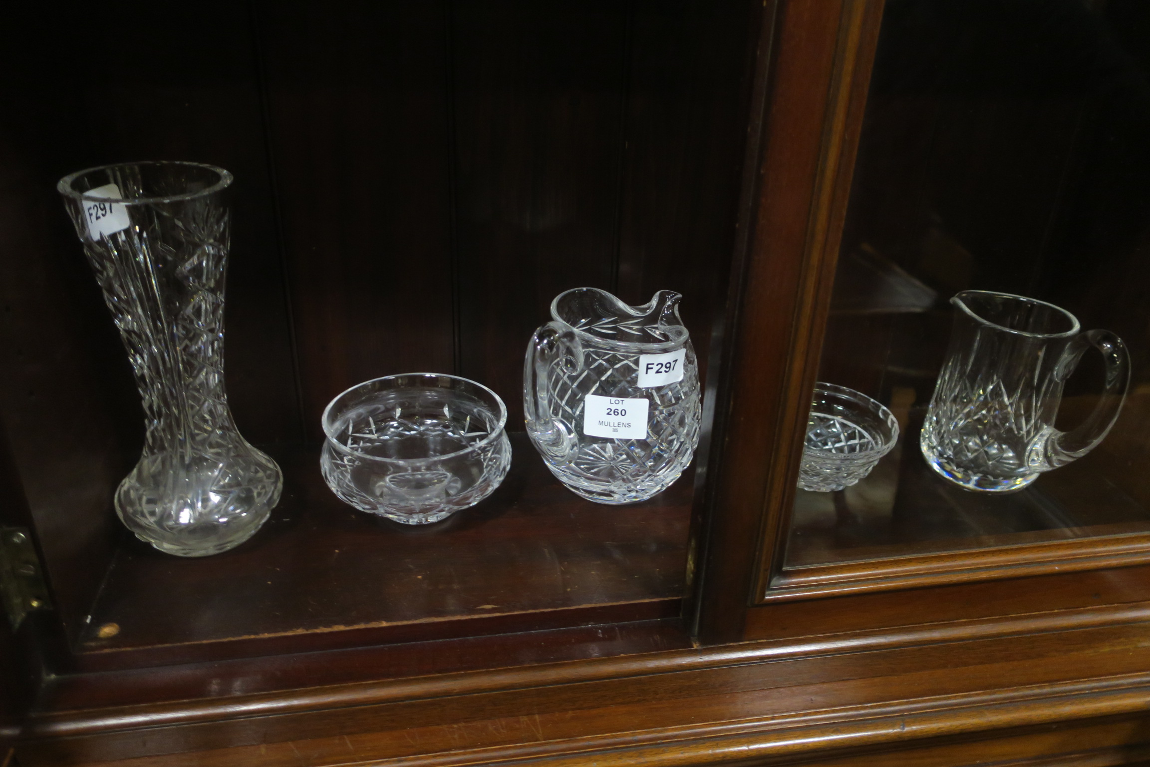 Lot 260 - TWO WATERFORD CUT GLASS JUGS,